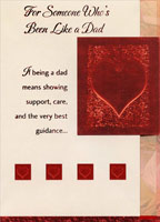 Red Foil Heart Die Cut Tri Fold: Like a Dad (1 card/1 envelope) Designer Greetings Valentine's Day Card