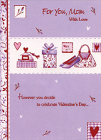 Perfume, Purse, Shoes Die Cut Windows: Mom (1 card/1 envelope) Designer Greetings Valentine's Day Card