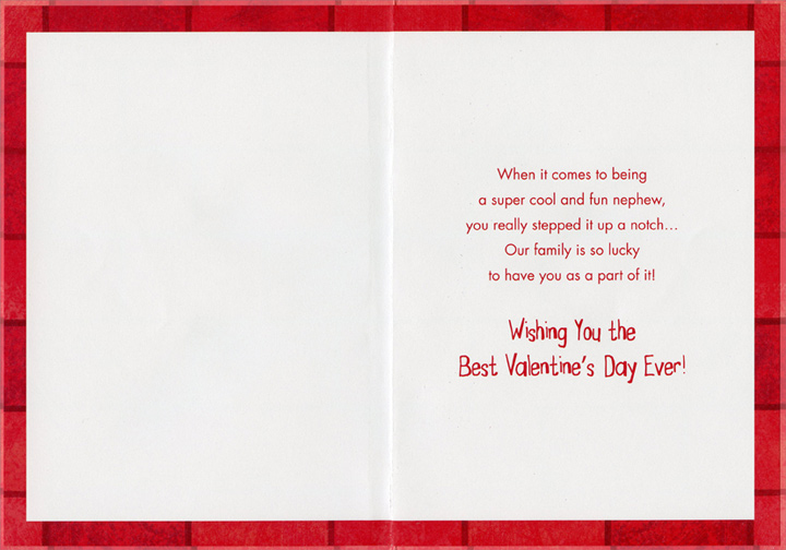 Sneakers Bow and Arrows Preteen Nephew 1 card1 envelope – Nephew Valentine Cards