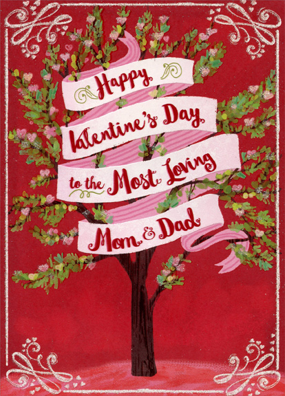 Most Loving Tree Mom Dad Valentines Day Card By Designer Greetings 735882649060 Ebay