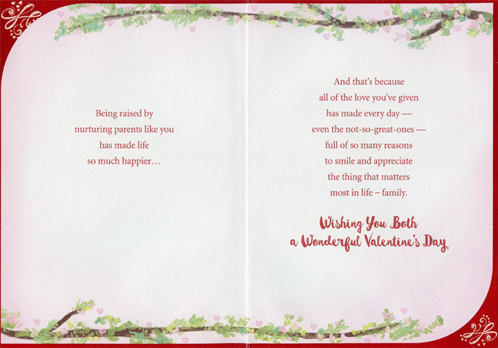 Most Loving Tree Mom Dad Valentines Day Card By Designer Greetings