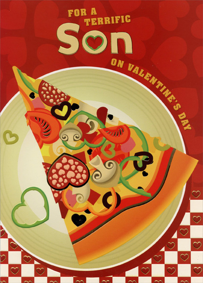 pizza slice: son valentine's day carddesigner greetings, Ideas