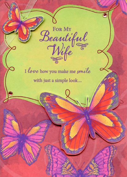 Two tip on butterflies hand crafted wife valentines day card two tip on butterflies hand crafted wife valentines day card 735882649282 ebay m4hsunfo