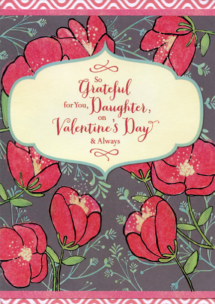 So grateful flowers daughter valentines day card by designer greetings m4hsunfo