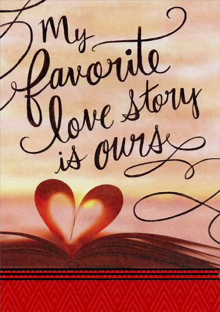 favorite love story husband valentines day card by designer greetings - Valentines Day Story