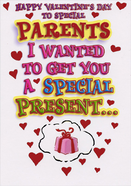 Special presents parents funny valentines day card by designer special presents parents funny valentines day card by designer greetings m4hsunfo