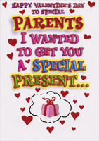 Special Presents: Parents (1 card/1 envelope) Designer Greetings Funny Valentine's Day Card