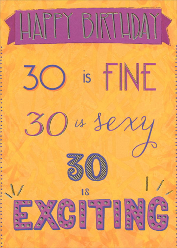 30 Is Fine Sexy Funny Age 30th Birthday Card