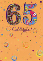 65th Birthday Card The Lives You/'ve Touched Window Sequins Age 65
