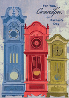Designer Greetings Vintage Wooden Radio on Brown Father/'s Day Card for Grandpa