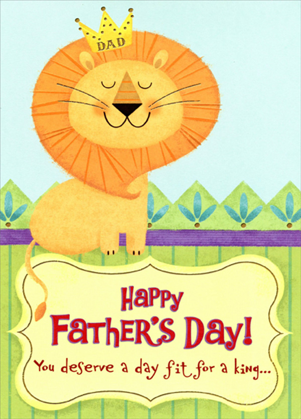 Designer Greetings Lion Wearing Crown Juvenile Kids Funny Father S Day Card Ebay Lion family | bedtime stories for kids little lion goes to underworld for the crown of princess. details about designer greetings lion wearing crown juvenile kids funny father s day card
