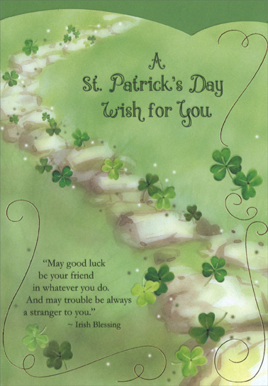 Stone wall on hill st patricks day card by designer greetings m4hsunfo