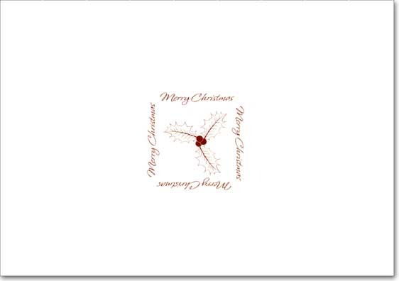 Gold Holly Trim Photo Holders (18 cards/18 envelopes) Designer Greetings Boxed Christmas Cards  INSIDE: Merry Christmas