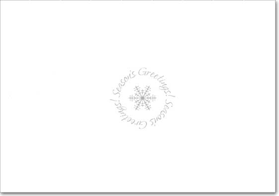 White & Silver Snowflakes on Blue Photo Holders (18 cards/18 envelopes) Designer Greetings Boxed Holiday Cards  INSIDE: Season's Greetings!