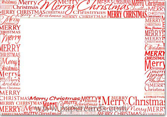 Red Merry Christmas Photo Holders Box of 18 Christmas Cards by ...