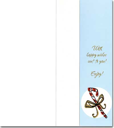 Candy/Gift/Hot Cocoa (1 card/1 envelope) - Holiday Money & Gift Card Holder - FRONT: Happy Happy Holidays  INSIDE: With happy wishes sent to you!  Enjoy!