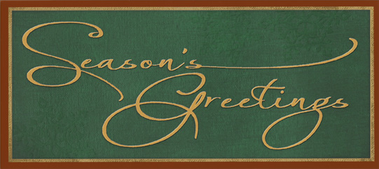 seasons greetings script money holder christmas money gift card holder by designer greetings - Christmas Card Money Holder