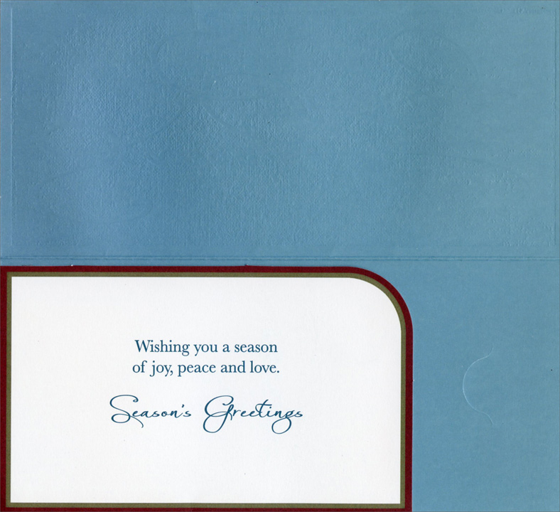 Seasons Greetings Script Christmas Money / Gift Card Holder Cards (8 ...