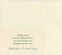 Holiday Greetings Money Holder (8 cards/8 envelopes) - Christmas Money & Gift Card Holders - FRONT: Holiday Greetings  INSIDE: Wishing you joy when the holidays are here - more than enough to last throughout the New Year!