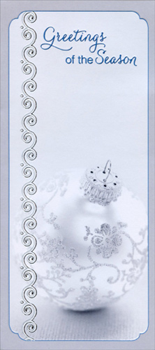 Silver ornament greetings christmas money gift card holder by description halloween card sale m4hsunfo