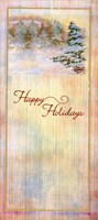 Happy Holidays on Rose - Money / Gift Card Holders (8 cards/8 envelopes) Designer Greetings Packaged Christmas Cards