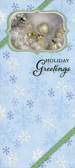 Holiday greetings on blue with snowflakes package of 8 christmas holiday greetings on blue with snowflakes package of 8 christmas money gift card holders by designer greetings m4hsunfo