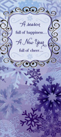 Blue Snowflakes: Season of Happiness - Money / Gift Card Holder (1 card/1 envelope) Designer Greetings Christmas Card