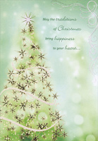 Tall Sparkling Tree (1 card/1 envelope) Designer Greetings Christmas Card