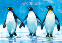 3 Penguins (1 card/1 envelope) Designer Greetings Christmas Card