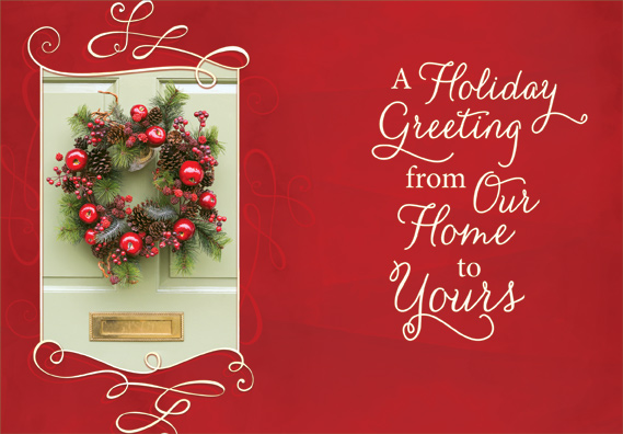Wreath on door christmas card by designer greetings m4hsunfo
