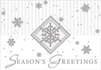 Silver Foil Snowflakes on White (1 card/1 envelope) Designer Greetings Christmas Card