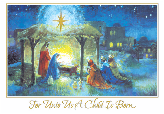 Religious Christmas Card Designs.Wise Men At Stable Religious Christmas Card By Designer