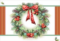 Wreath with Polka Dot Bow (18 cards/18 envelopes) Designer Greetings Boxed Christmas Cards