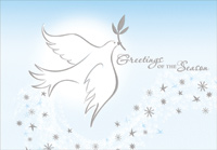 Foil Dove with Olive Branch (1 card/1 envelope) Designer Greetings Peace Christmas Card