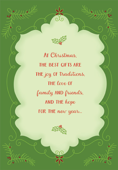 the best gifts christmas card by designer greetings