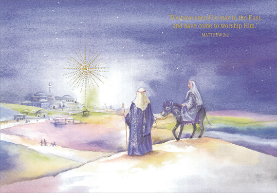ride to bethlehem box of 18 religious christmas cards by designer greetings