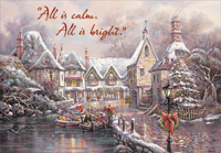 Santa Delivers by Boat (1 card/1 envelope) Designer Greetings Christmas Card