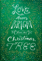 Love Shines Bright (18 cards/18 envelopes) Designer Greetings Boxed Christmas Cards