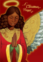 Angel Praying: African American Christmas Card