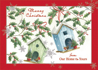 Bird Houses: Our Home to Yours (1 card/1 envelope) Designer Greetings Christmas Card