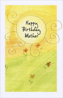 Sun and Flowers In Field: Mother (1 card/1 envelope) Freedom Greetings Birthday Card