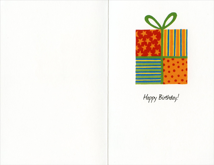 Four Ties: Dad (1 card/1 envelope) Freedom Greetings Birthday Card - FRONT: To my dad�  INSIDE: Happy Birthday!