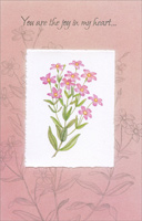 Pink Flowers On White: Sweetheart (1 card/1 envelope) Freedom Greetings Birthday Card