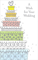 Nine Tiered Wedding Cake (1 card/1 envelope) Freedom Greetings Wedding Card