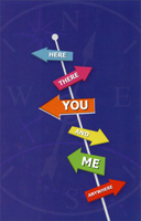 Road Signs: Here, There, You (1 card/1 envelope) Freedom Greetings Thinking of You Card