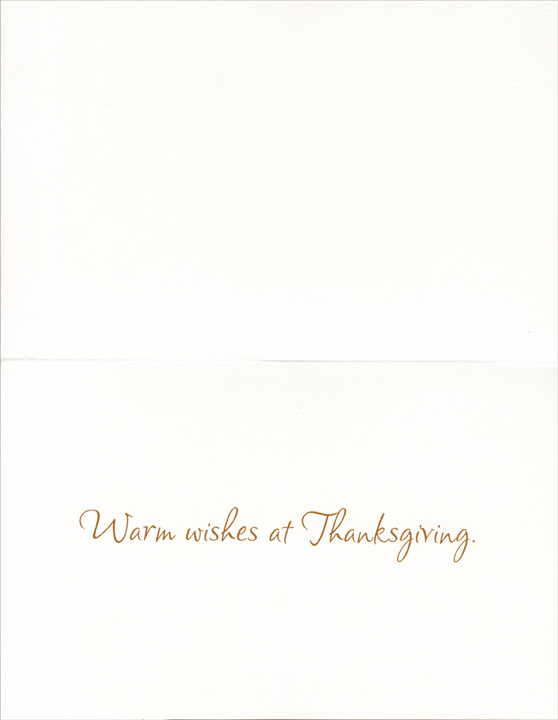 Dog in Field (1 card/1 envelope) Thanksgiving Card - FRONT: There are so many things to be thankful for, if we only take time to look.  INSIDE: Warm wishes at Thanksgiving.