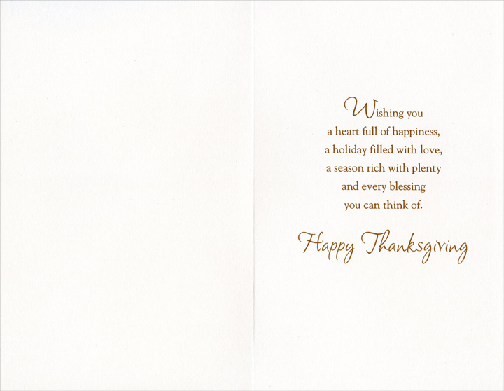 Church & Path (1 card/1 envelope) Thanksgiving Card - FRONT: Bless you Godfather at Thanksgiving and Always -- You are being enriched in every way, for all generosity, which through us produces Thanksgiving to God. 2 Corinthians 9:11  INSIDE: Wishing you a heart full of happiness, a holiday filled with love, a season rich with plenty and every blessing you can think of. Happy Thanksgiving