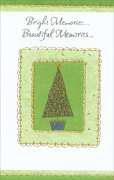 Tree Inside Green Frame (1 card/1 envelope)  Christmas Card
