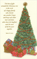 Tree & Gifts (1 card/1 envelope) - Christmas Card