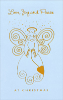 Gold Trim Angel (1 card/1 envelope)  Christmas Card
